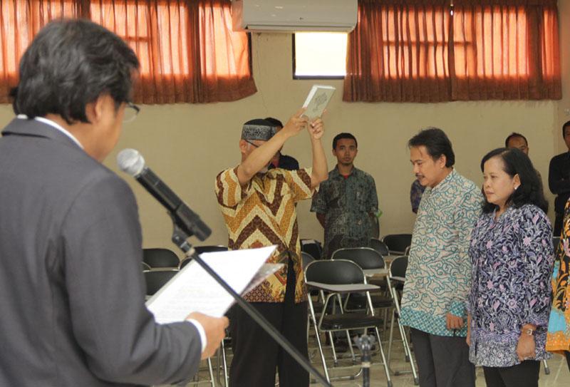 Pelantikan Pejabat Pengelola Fakultas Perikanan dan Ilmu Kelautan Unpad periode 2016-2021