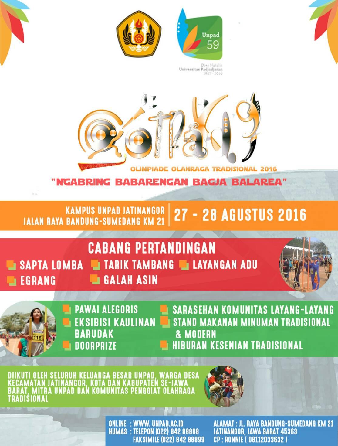 Olimpiade Olah Raga Tradisional (Ootrad) 2016