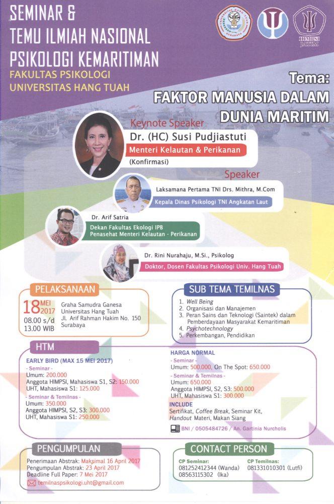 Seminar Nasional dan Temu Ilmiah Nasional Psikologi Kemaritiman