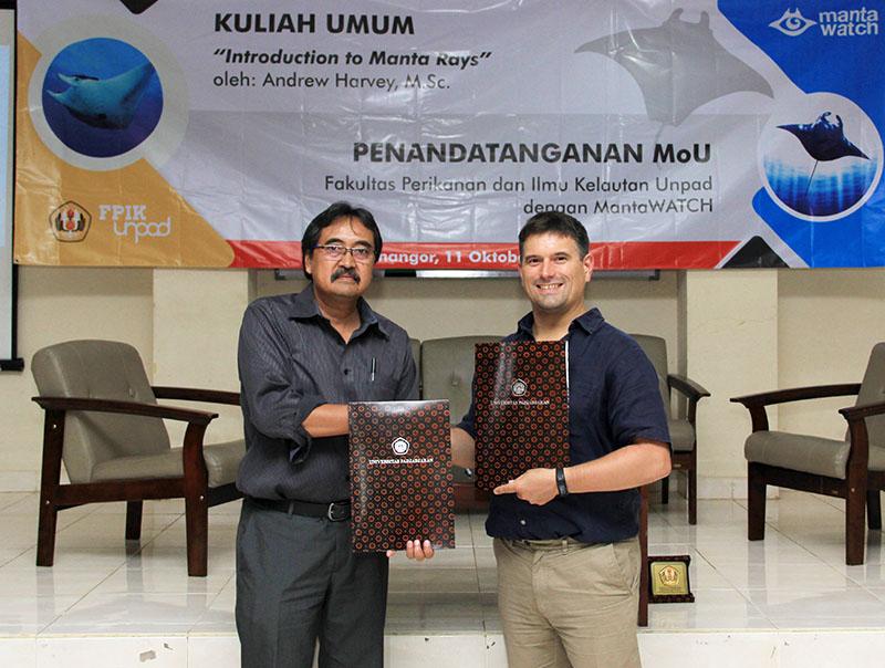 Kuliah Umum dan MoU FPIK Unpad dengan MantaWatch